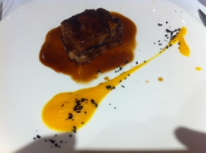 lamb confit with pumpkin puree