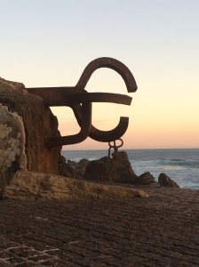 One of  'Peine del Viento (or Wind Comb) by the late Eduardo Chillida